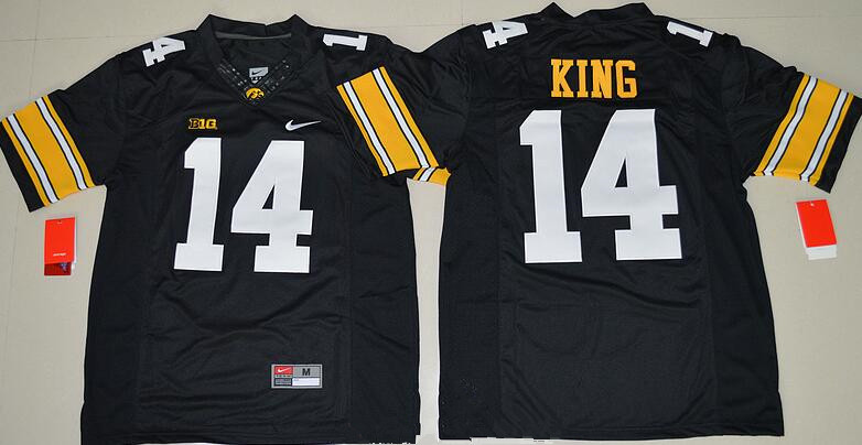 c7c4f6c83 Men s Iowa Hawkeyes  14 Desmond King Black Limited Stitched College Football  Nike NCAA Jersey