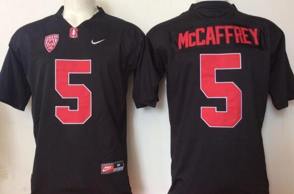 Men's Standford Cardinals #5 Christian McCaffrey Black Stitched College Football Nike NCAA Jersey