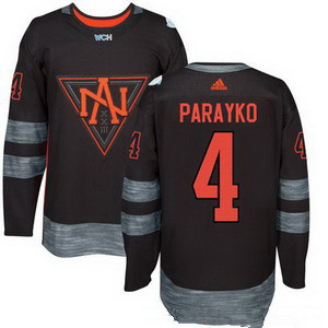 Men's North America Hockey #4 Colton Parayko Black 2016 World Cup of Hockey Stitched adidas WCH Game Jersey