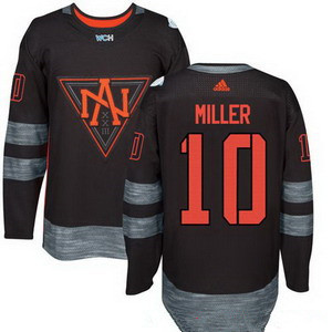 Men's North America Hockey #10 J T Miller Black 2016 World Cup of Hockey Stitched adidas WCH Game Jersey