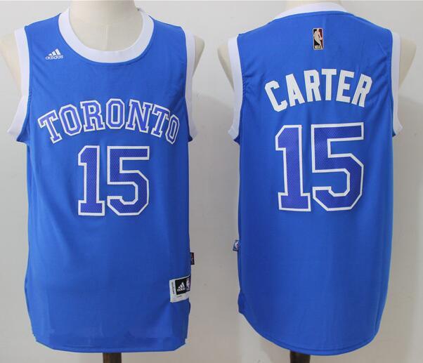 buy popular d5702 e8c51 Men's Toronto Raptors #15 Vince Carter Blue Stitched 2017 ...