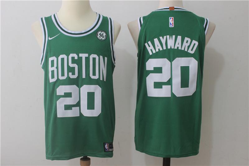 adf6193b Men's Boston Celtics #20 Gordon Hayward Green 2017-2018 Nike Swingman  Stitched NBA Jersey