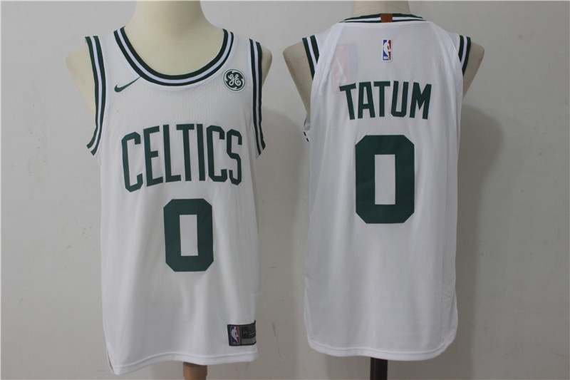 Men s Boston Celtics  0 Jayson Tatum White 2017-2018 Nike Swingman Stitched  NBA Jersey 7776bf583
