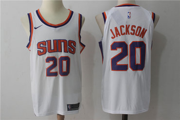 Men s Phoenix Suns  20 Josh Jackson New White 2017-2018 Nike Swingman  Stitched NBA 5b409bafe
