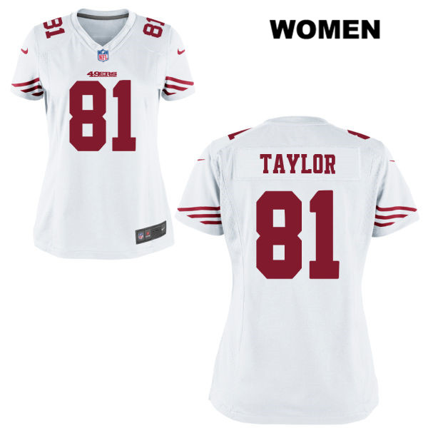 Womens Nike San Francisco 49ers #81 Trent Taylor White Game Football Jersey