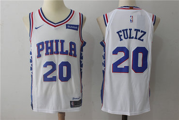 bf56cd6f918 Men's Philadelphia 76ers #20 Markelle Fultz White 2017-2018 Nike Swingman  Stubhub Stitched NBA