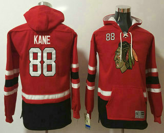 Youth Chicago Blackhawks #88 Patrick Kane NEW Red Stitched NHL Old Tim Hockey Hoodie