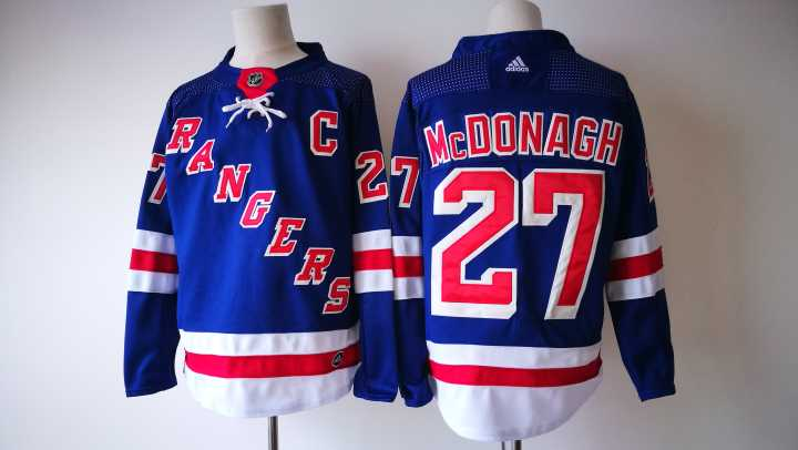 size 40 f516d 5dd67 Men's New York Rangers #27 Ryan McDonagh Royal Blue Home ...