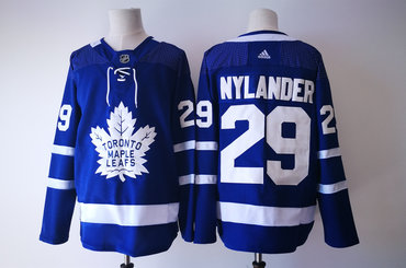 Men s Toronto Maple Leafs  29 William Nylander Royal Blue Home 2017-2018  Hockey Stitched aa5bde18c