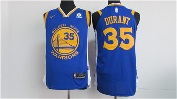premium selection df760 9d650 Nike Golden State Warriors #35 Kevin Durant Blue 2017-2018 ...