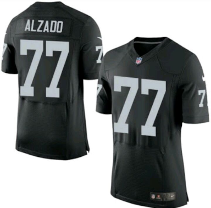 Men's Oakland Raiders #77 Lyle Alzado Black Retired Player NFL Nike Elite Jersey