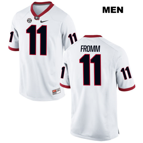 brand new 601f9 3203f Men's Georgia Bulldogs #11 Jake Fromm White Stitched NCAA ...