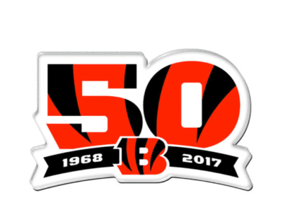 2017 Cincinnati Bengals 50th Anniversary Patch