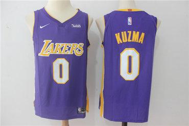 f5a54f839c6 Men's Los Angeles Lakers #0 Kyle Kuzma New Purple 2017-2018 Nike Swingman Wish  Stitched NBA Jersey