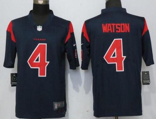 size 40 7e348 267bd Men's 2017 NFL Draft Houston Texans #4 Deshaun Watson Navy ...