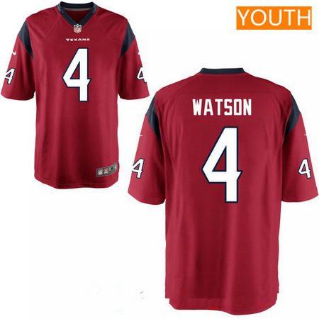 46c207cd Youth 2017 NFL Draft Houston Texans #4 Deshaun Watson White Road ...
