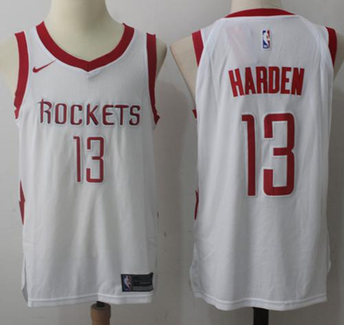 Nike Houston Rockets #13 James Harden White Stitched NBA Jersey
