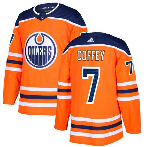 Adidas Edmonton Oilers #7 Paul Coffey Orange Home Authentic Stitched NHL Jersey