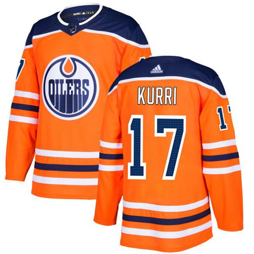 Adidas Edmonton Oilers #17 Jari Kurri Orange Home Authentic Stitched NHL Jersey