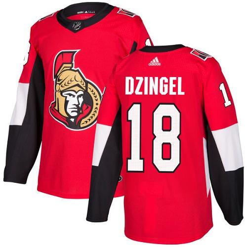 Adidas Senators #18 Ryan Dzingel Red Home Authentic Stitched NHL Jersey