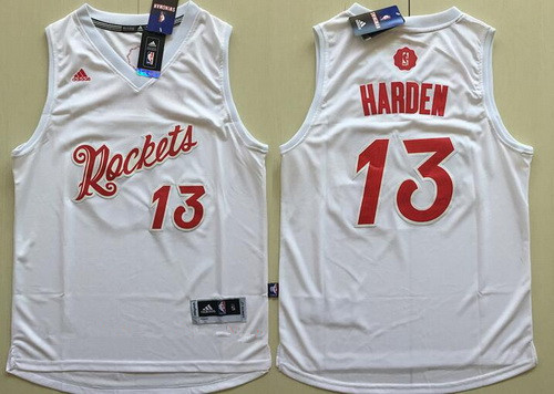 33a3e72c14c Men s Houston Rockets  13 James Harden adidas White 2016 Christmas Day  Stitched NBA Swingman Jersey