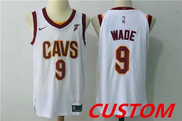 Custom Men's Cleveland Cavaliers White 2017-2018 Nike Swingman Goodyear Stitched NBA Jersey