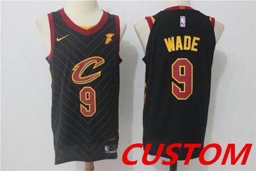 5521c34d4 Custom Men's Cleveland Cavaliers Black 2017-2018 Nike Swingman Stitched NBA  Jersey