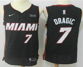 Men s Miami Heat  7 Goran Dragic Black 2017-2018 Nike Swingman Ultimate  Software Stitched NBA Jersey 93a42cf6a