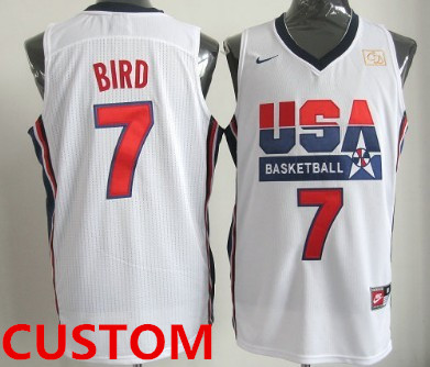 Custom 1992 Olympics Team USA  White Swingman Jersey