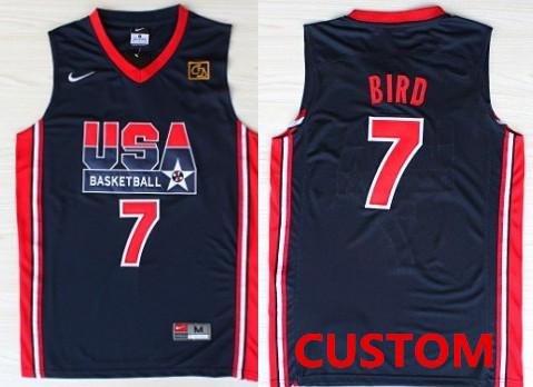 Custom 1992 Olympics Team USA Navy Blue Swingman Jersey