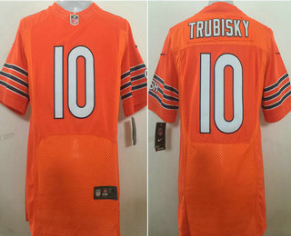 promo code 5f056 564a8 Men's Chicago Bears #10 Mitchell Trubisky Orange Alternate ...