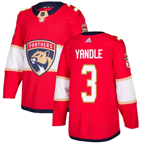 Adidas Panthers #3 Keith Yandle Red Home Authentic Stitched NHL Jersey