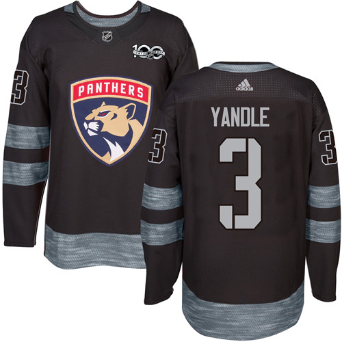 Adidas Panthers #3 Keith Yandle Black 1917-2017 100th Anniversary Stitched NHL Jersey