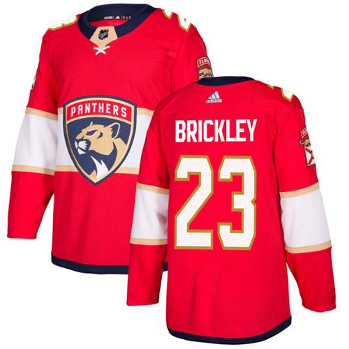 Adidas Panthers #23 Connor Brickley Red Home Authentic Stitched NHL Jersey