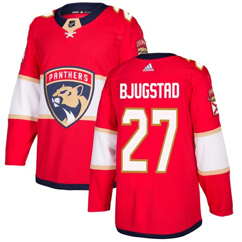 Adidas Panthers #27 Nick Bjugstad Red Home Authentic Stitched NHL Jersey