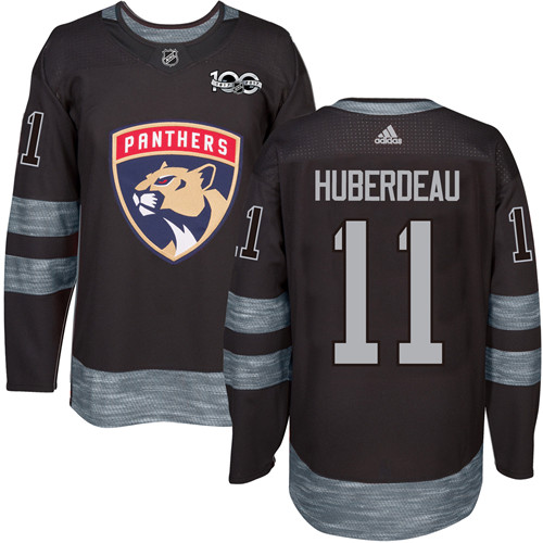 Adidas Panthers #11 Jonathan Huberdeau Black 1917-2017 100th Anniversary Stitched NHL Jersey