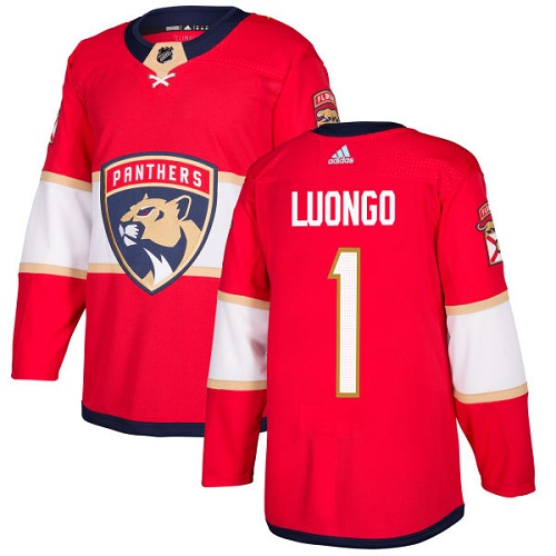 Adidas Panthers #1 Roberto Luongo Red Home Authentic Stitched NHL Jersey