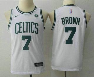 Youth Boston Celtics #7 Jaylen Brown White 2017-2018 Nike Swingman General Electric Stitched NBA Jersey