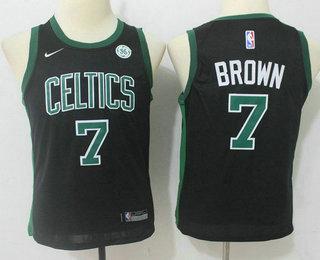 Youth Boston Celtics #7 Jaylen Brown Black 2017-2018 Nike Swingman General Electric Stitched NBA Jersey