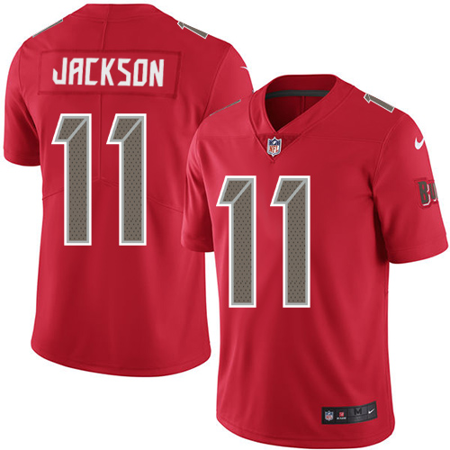 Youth Nike Tampa Buccaneers #11 DeSean Jackson Red Stitched NFL Limited Rush Jersey