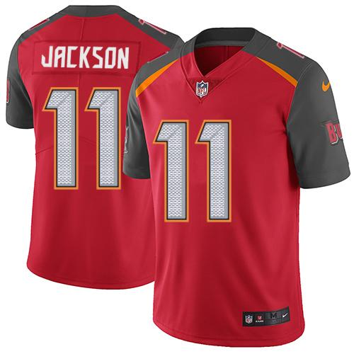 Youth Nike Tampa Buccaneers #11 DeSean Jackson Red Team Color Stitched NFL Vapor Untouchable Limited Jersey