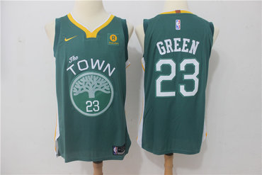 huge selection of 3de50 c36c7 Warriors 23 Draymond Green Green The Town Nike Authentic ...