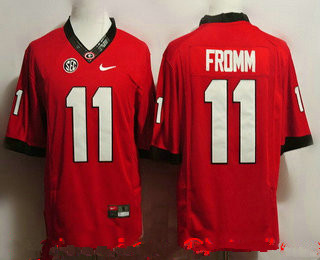 Men S Georgia Bulldogs 11 Jake Fromm Red Limited College