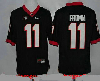 Men's Georgia Bulldogs #11 Jake Fromm Black Limited College Football Stitched Nike NCAA Jersey