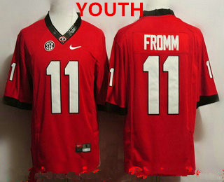 premium selection 9ae91 6294b Youth Georgia Bulldogs #11 Jake Fromm Red Limited College ...