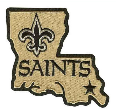 Stitched New Orleans Saints Louisiana State Logo Jersey Patch