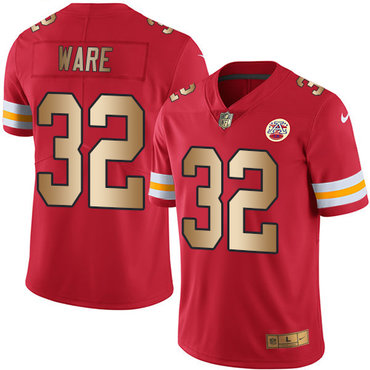 4362ebe2b Nike Chiefs #32 Spencer Ware Red Men's Stitched NFL Limited Gold Rush Jersey