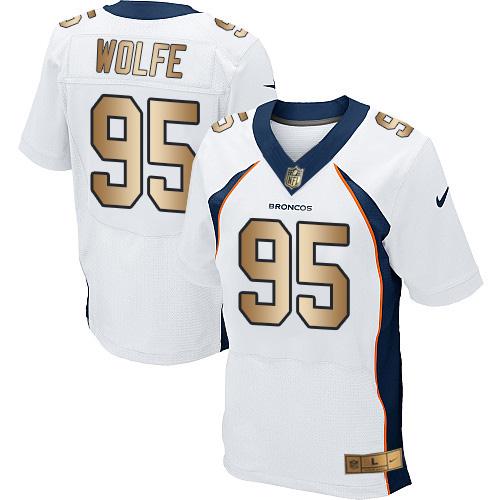 Nike Broncos #95 Derek Wolfe White Men's Stitched NFL New Elite ...