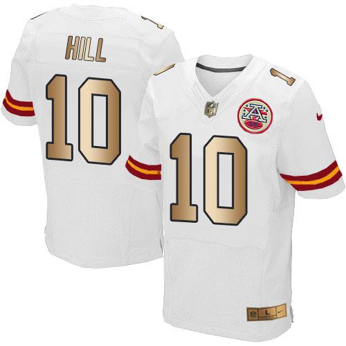 pretty nice 04219 18796 Nike Chiefs #10 Tyreek Hill White Men's Stitched NFL Elite ...