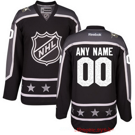 Men's Pacific Division Reebok Black 2017 NHL All-Star Game Custom Stitched Hockey Jersey